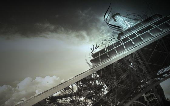 Eiffel Tower, Paris, France, sky