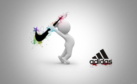 gray, Nike, nike, Adidas, adidas