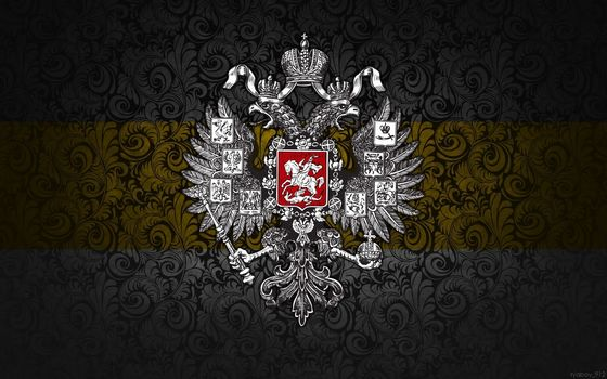 Russ, Russia, imperka, the great banner, flag, coat of arms