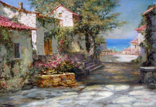 Miliukov alexander, Crimea, summer, sun, shadow, sea, lodge