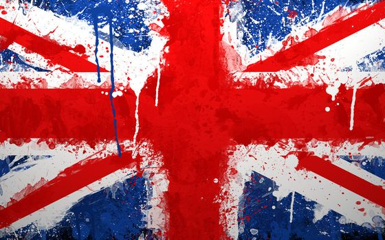 англия, флаг, краски