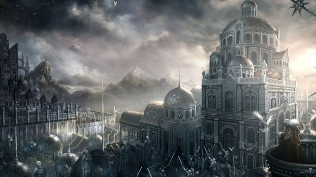 Art, fantasy, city
