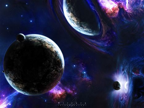 Stars, другие миры, planet, Mirror, Mirror Worlds, other worlds