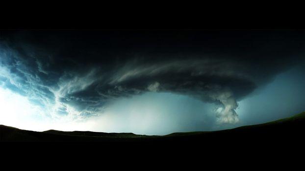 природа, торнадо, тучи
