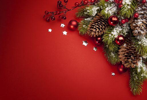 новый год, праздник, новогодние обои, декорации, игрушки, ель, шишки, Новый год