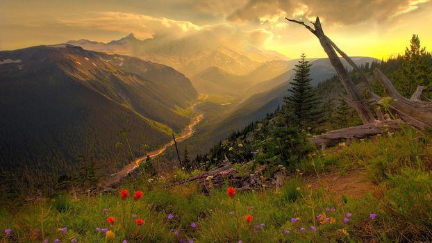 Mountains, panorama, nature