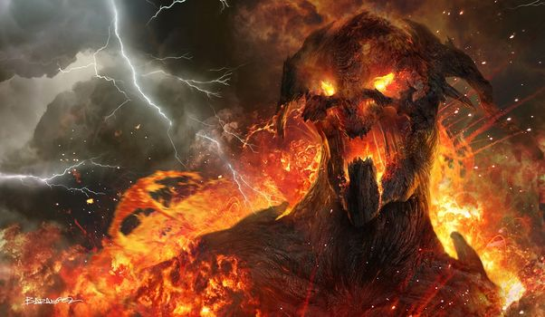 wrath of the titans, daemon, fire