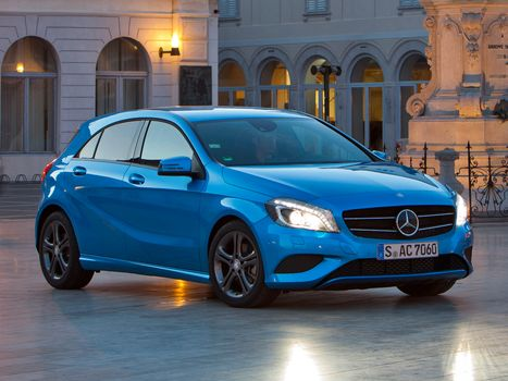 Mercedes-benz, A200, Urban, синий, автомобили, машины, авто