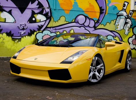 yellow, machine, Galardo, graffiti