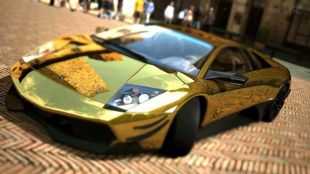Lamborghini, Murcielago, LP670, SV Gold, Золотая Ламборгини, автомобили, машины, авто