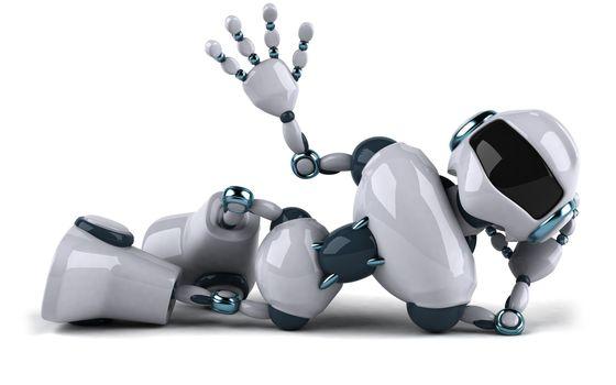 robot, white, Hi