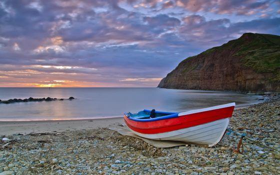 sea, boat, landscape