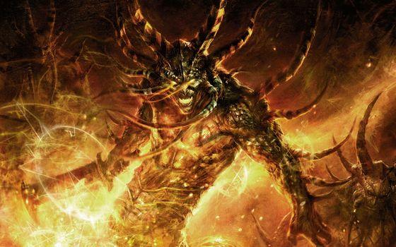 Demons, Horn, spikes, sword