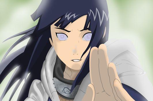 anime, naruto, Naruto, hyuuga hinata, Hinata, girl, Art