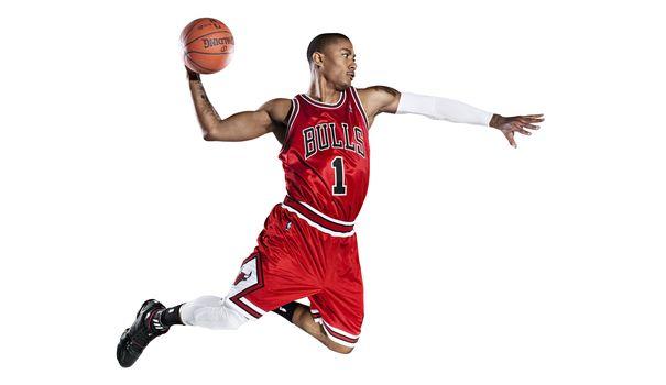 chicago bulls, slam dunk, баскетбол, nba, derrick rose