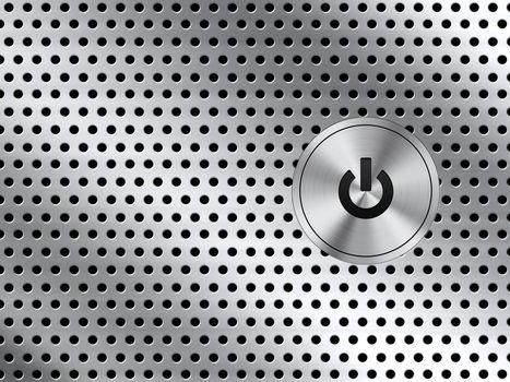 кнопка, металл, отверстия