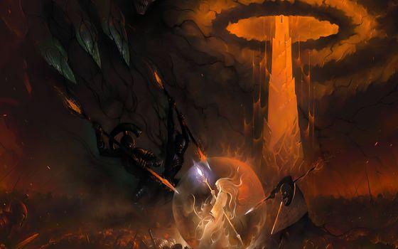 mage, staff, scope, army, daemon, battleground, body, scramble