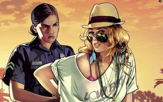 grand theft auto v, gta 5, girl, cop, police