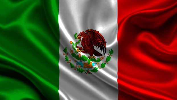 mexico, satin, flag, Mexico, Atlas, flag