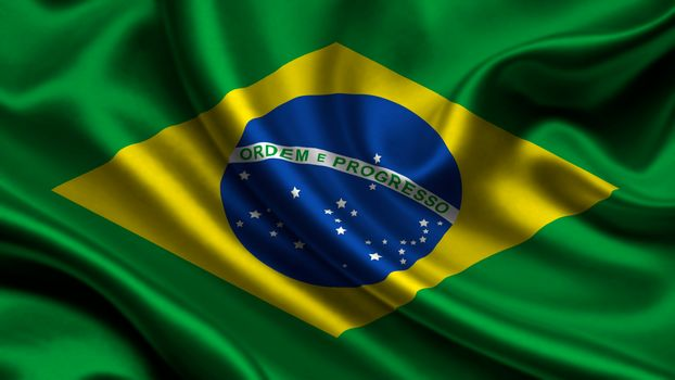 brazil, satin, flag, Brazil, Atlas, flag