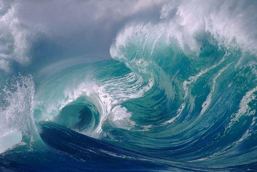 море, океан, волны, пена