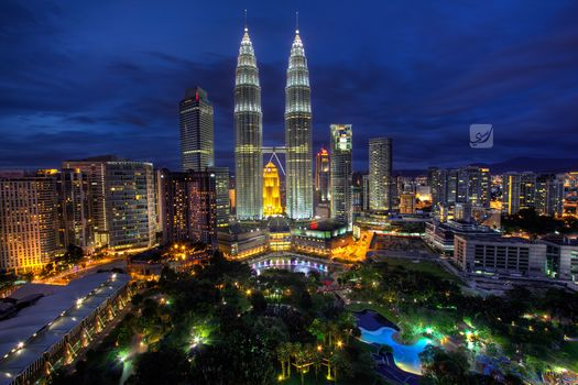 Куала-Лумпур, Малайзия, kuala lumpur, malaysia, blue hour, ночь, rasdi abdul rahman photography