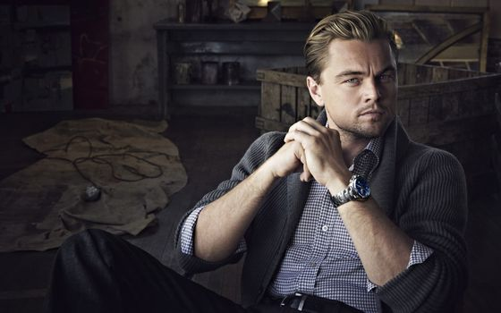 Leonardo DiCaprio, actor, watch, man, sweater