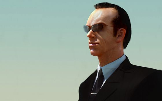 Hugo Weaving, Agent Smith, Matrix, glasses, suit