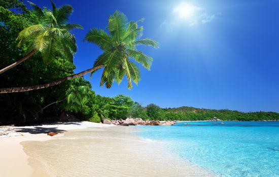природа, пейзаж, небо, облака, песок, море, пляж