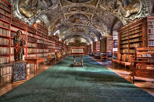 Strahov Monastery, Prague, hdr