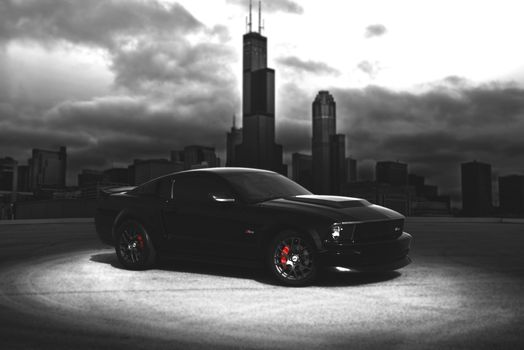 ford, Mustang, America, ford, mustang, GT, black, city, Chicago, shelby, landscape, auto, albania, wallpaper, blur, car, muscle, american,