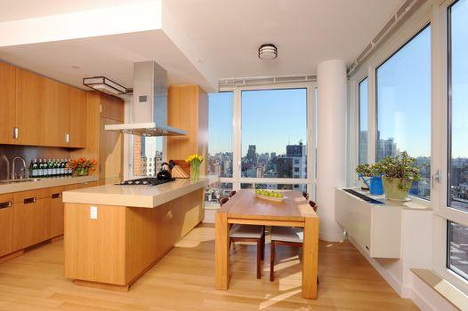 interior, megalopolis, apartments, design, kitchen, style, room