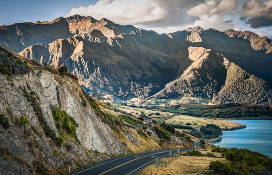 lake hawea, queenstown lakes district on the south island, otago, new zealand