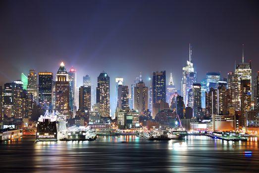 New York, Hudson River, refelctions