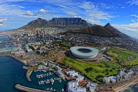 Cape Town Aerial View, Western Cape, South Africa