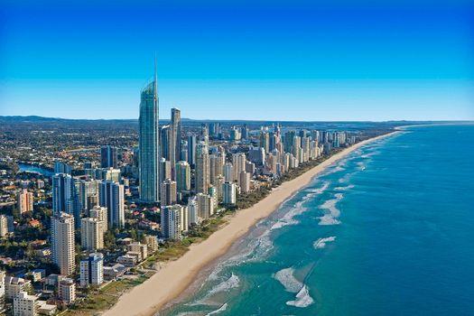 Aerial, Gold Coast Skyline, Queensland, australia