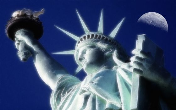 Statue of Liberty, 3d, art