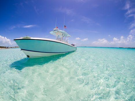 yacht, xhuma Islands, Bahamas, caribbean sea