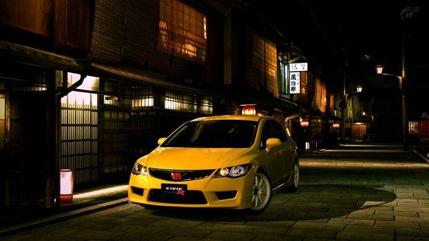 Honda Civic Type R Sedan, machine, Car