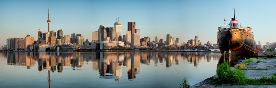 Polson street pier, Toronto, Ontario, Canada, panorama