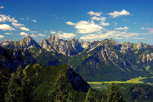 Mountains, Alps, landscape