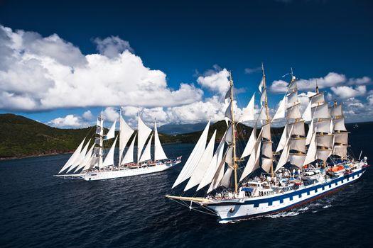 Star Flyer, Royal Clipper, sailing, ships, парусники