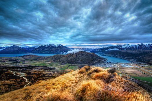 view, Queenstown, New Zealand, HDR