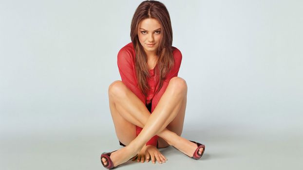 girl, in red, legs