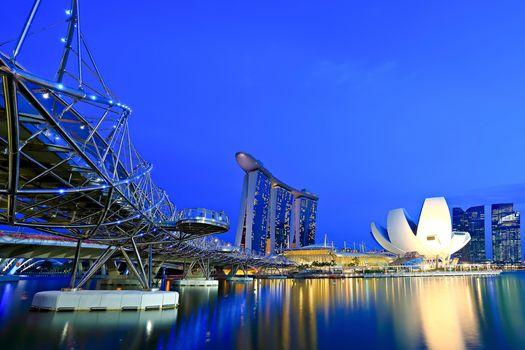 bridge, Marina Bay Sands, Singapore