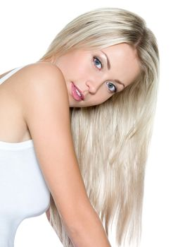 блондинка, прическа, волосы