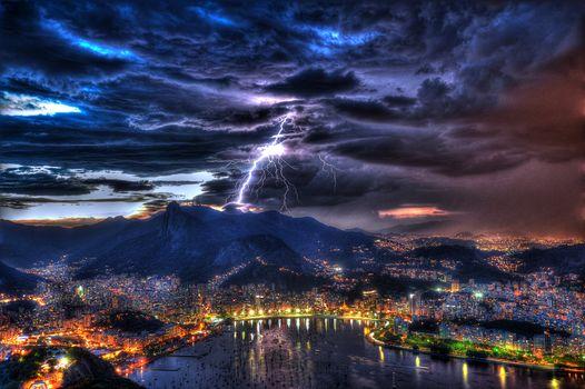 Rio de Janeiro, brazil, night