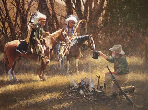 John Fawcett, A Friendly Gesture, Indians, picture