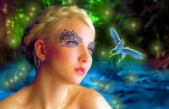girl, fairy, Pegasus, fantasmogoriya