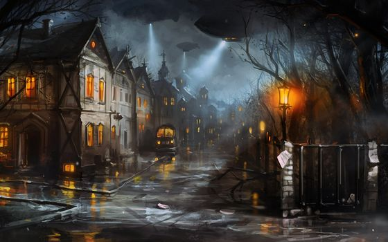 machine, lights, evening, street, home, city